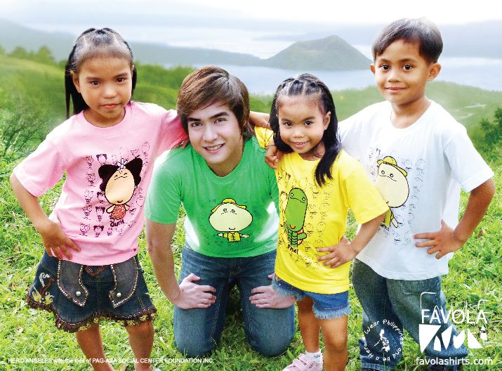 Favola Shirts with Hero Angeles and Pag-asa Kids