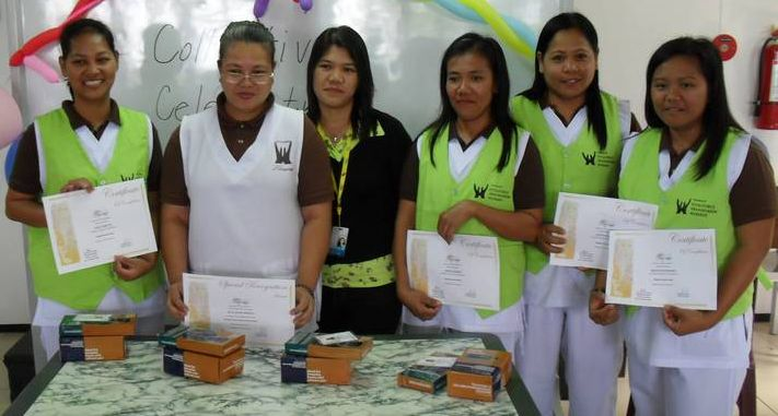 The mothers of our children received their certificates in Massage Therapy
