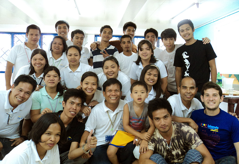 Daniele with the staff of Pag-asa Social Center
