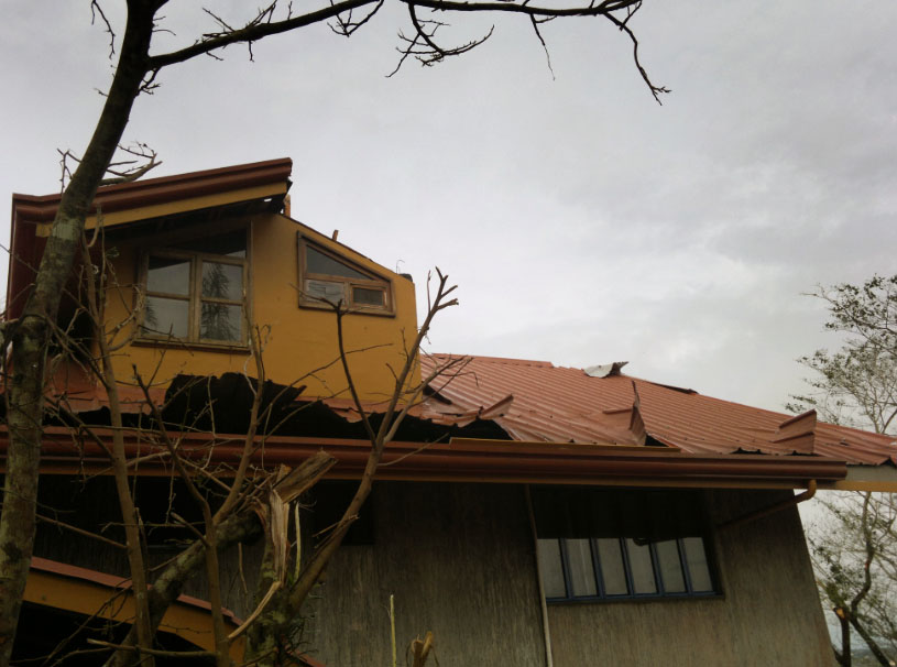 Damages in Pag-asa building
