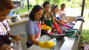 Pag-asa mothers during the training on housekeeping.