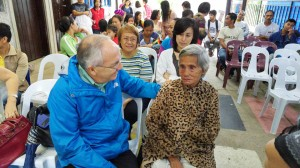 Giuseppe Arsi (PSC Chairman) with Lola Peria, the grandmother of Niño