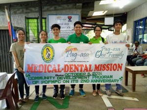 Pag-asa scholars assisting patients during Medical and Dental mission.