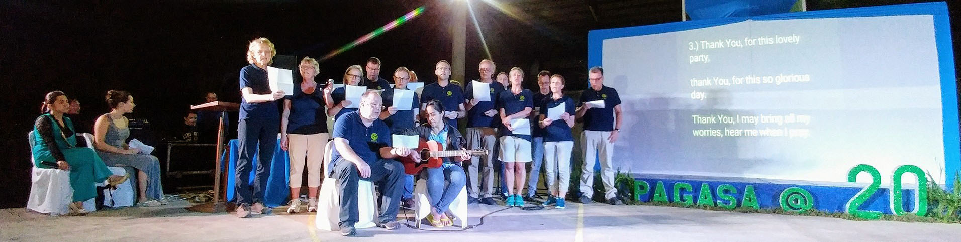 The Schenkels and friends from the Rotary Club Germany during Pag-asa's 20th Anniversary night