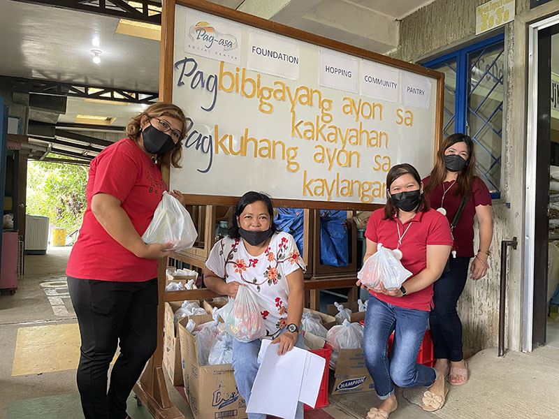 PSC Staff during the distribution of pandemic essentials.